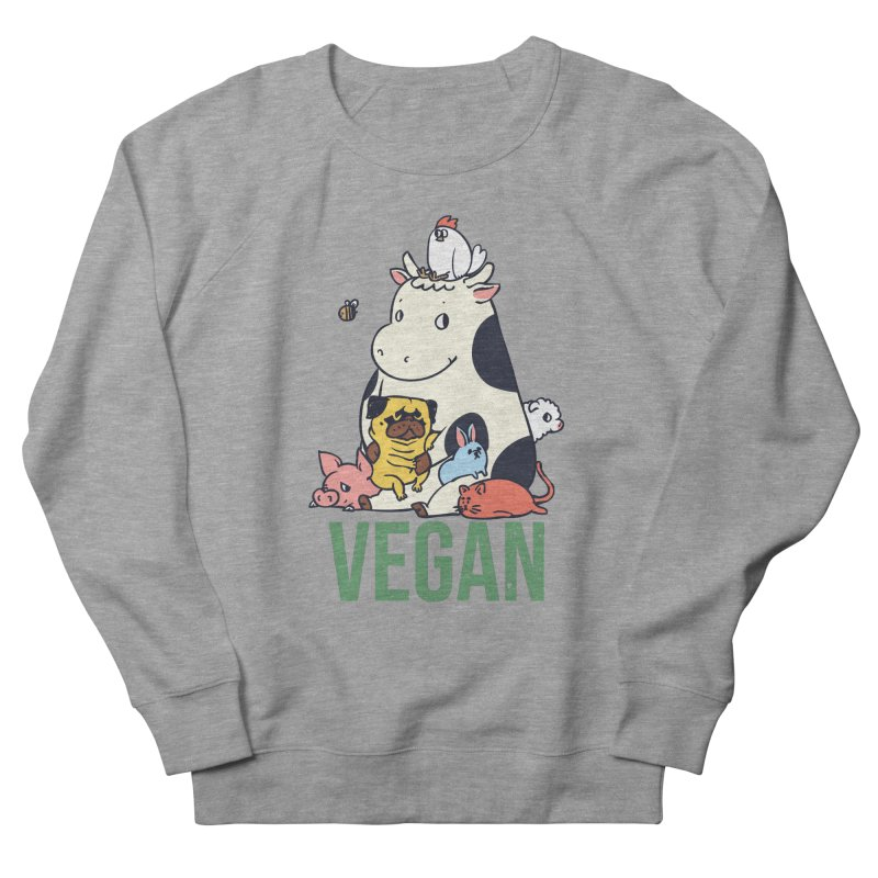 Pug and Friends Vegan Men's French Terry Sweatshirt by huebucket's Artist Shop