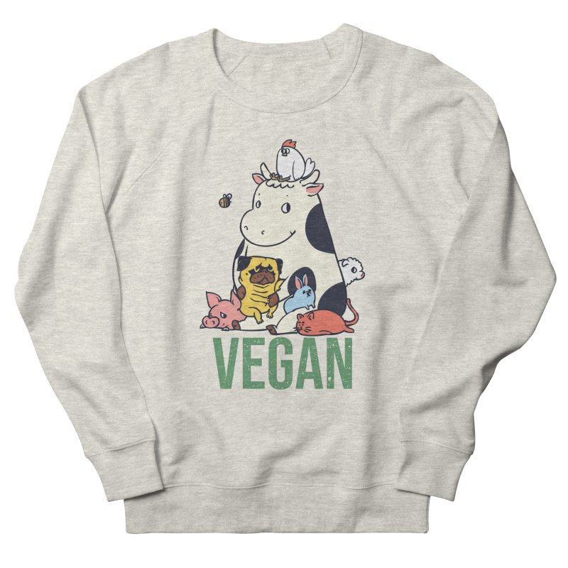 Pug and Friends Vegan Men's French Terry Sweatshirt by huebucket's Artist Shop
