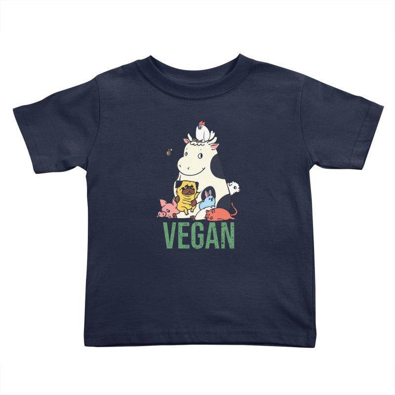 Pug and Friends Vegan Kids Toddler T-Shirt by huebucket's Artist Shop