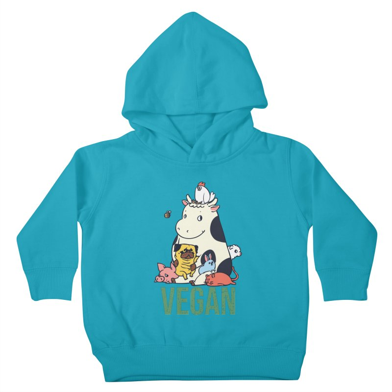 Pug and Friends Vegan Kids Toddler Pullover Hoody by huebucket's Artist Shop