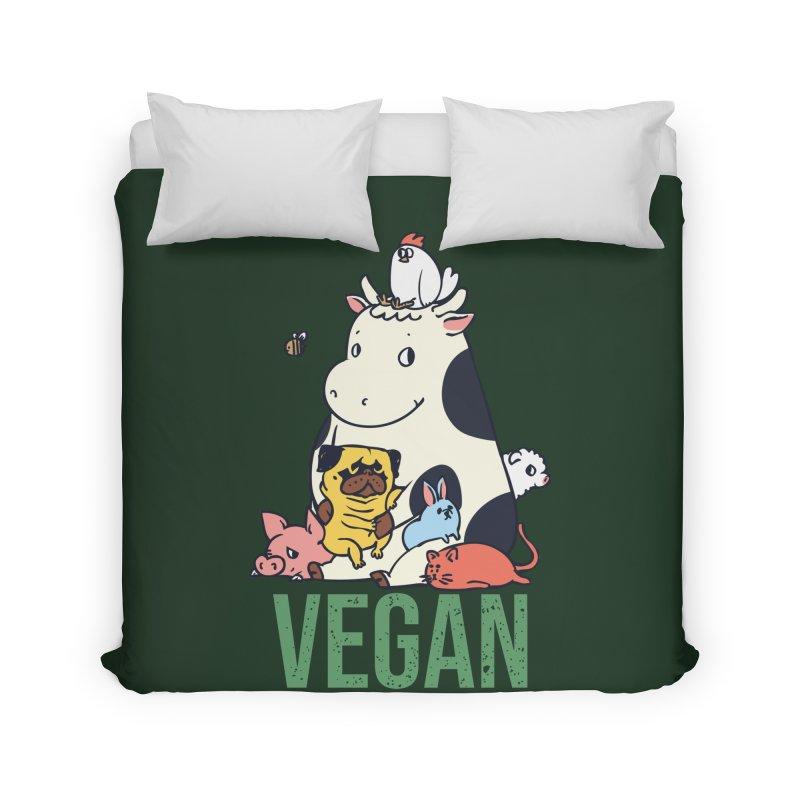Pug and Friends Vegan Home Duvet by huebucket's Artist Shop