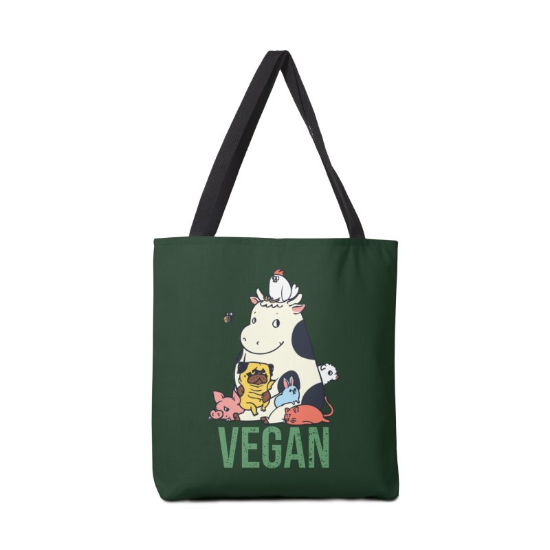 Pug and Friends Vegan Accessories Bag by huebucket's Artist Shop