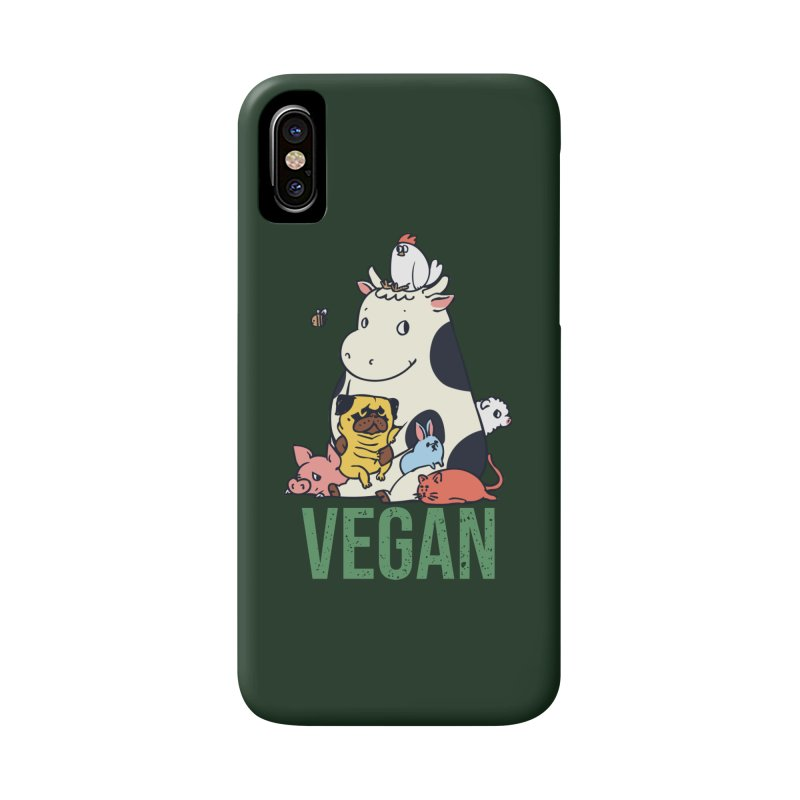 Pug and Friends Vegan Accessories Phone Case by huebucket's Artist Shop