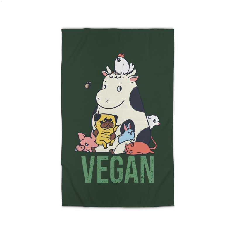 Pug and Friends Vegan Home Rug by huebucket's Artist Shop