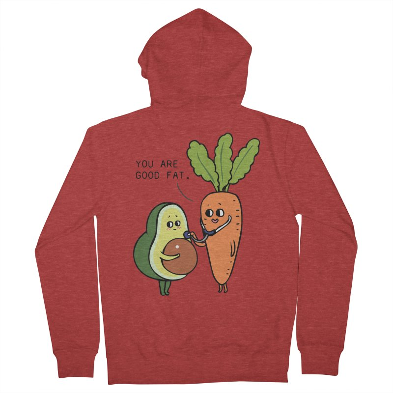 You are good fat Women's French Terry Zip-Up Hoody by huebucket's Artist Shop