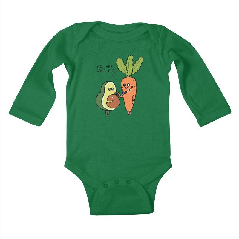 You are good fat Kids Baby Longsleeve Bodysuit by huebucket's Artist Shop