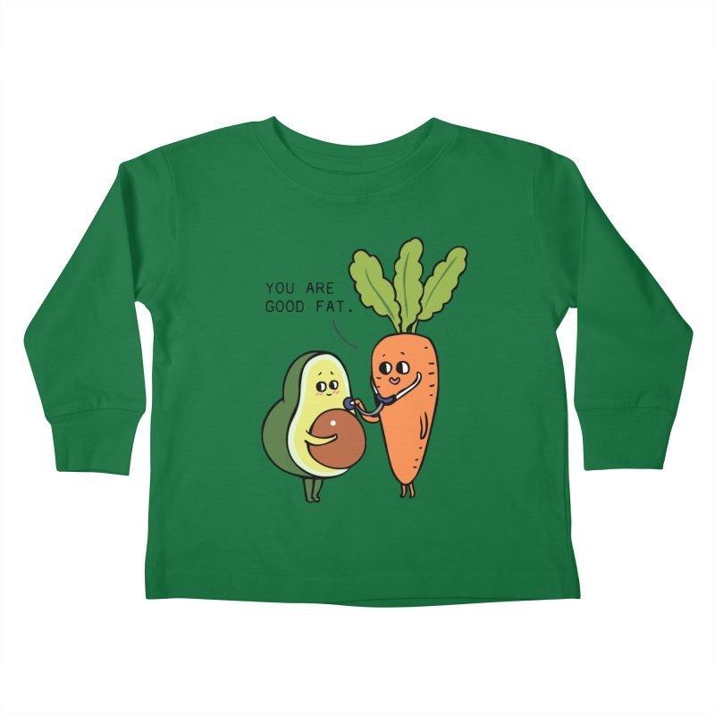 You are good fat Kids Toddler Longsleeve T-Shirt by huebucket's Artist Shop