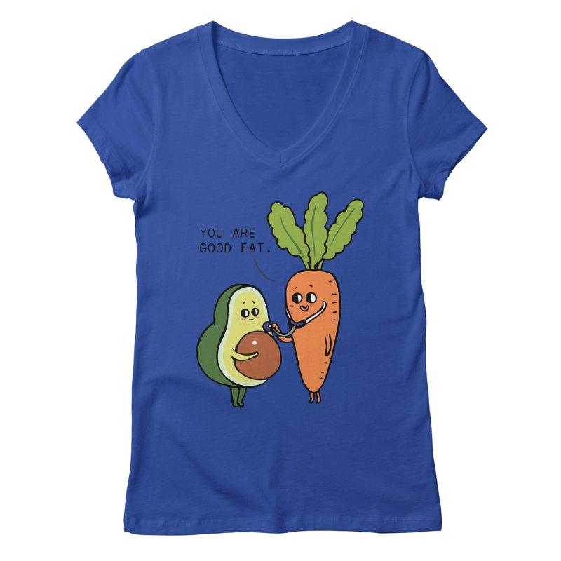 You are good fat Women's Regular V-Neck by huebucket's Artist Shop