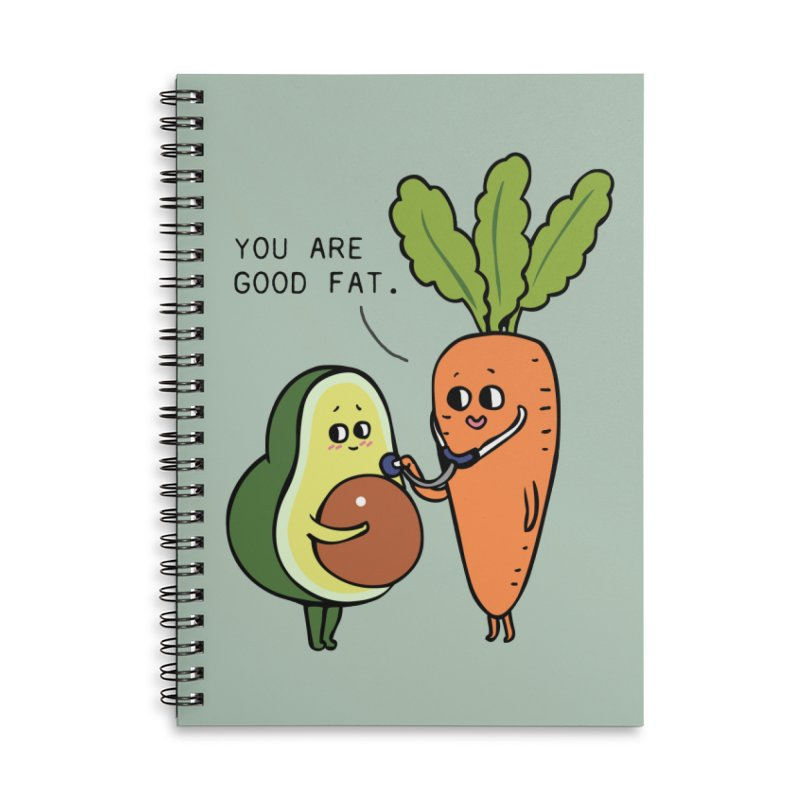 You are good fat Accessories Lined Spiral Notebook by huebucket's Artist Shop
