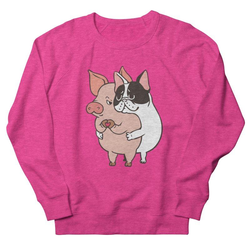 Friend Not Food Women's French Terry Sweatshirt by huebucket's Artist Shop