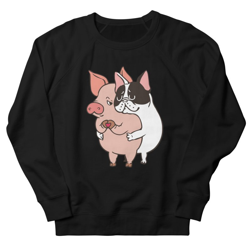 Friend Not Food Men's French Terry Sweatshirt by huebucket's Artist Shop
