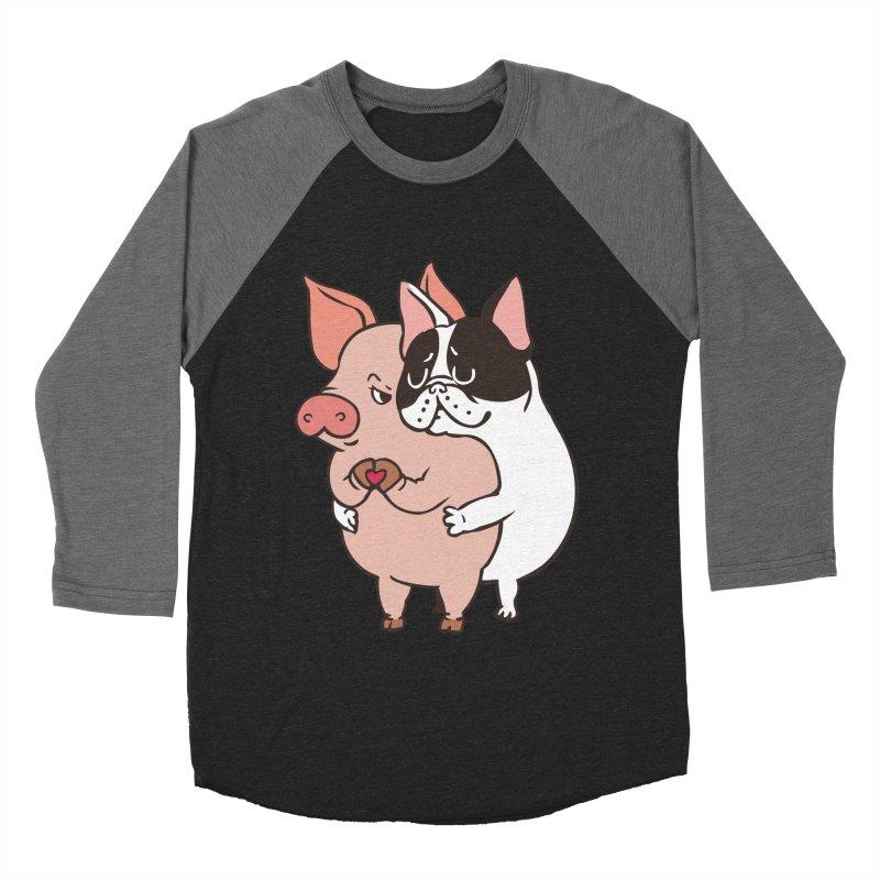 Friend Not Food Women's Baseball Triblend Longsleeve T-Shirt by huebucket's Artist Shop