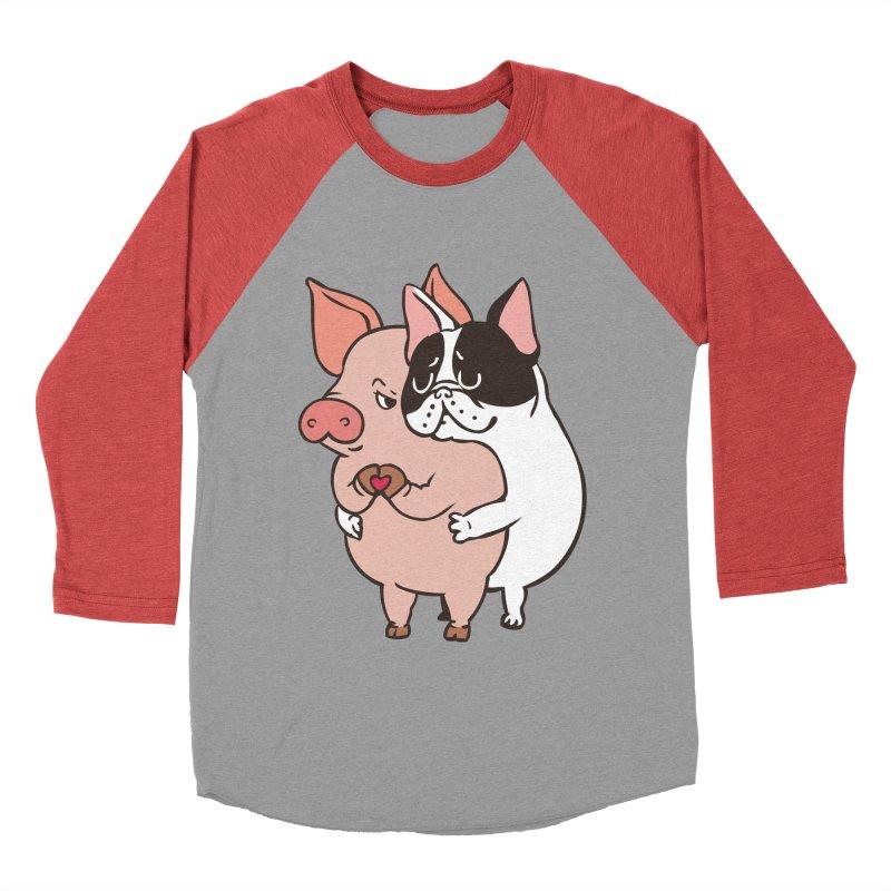 Friend Not Food Men's Baseball Triblend Longsleeve T-Shirt by huebucket's Artist Shop