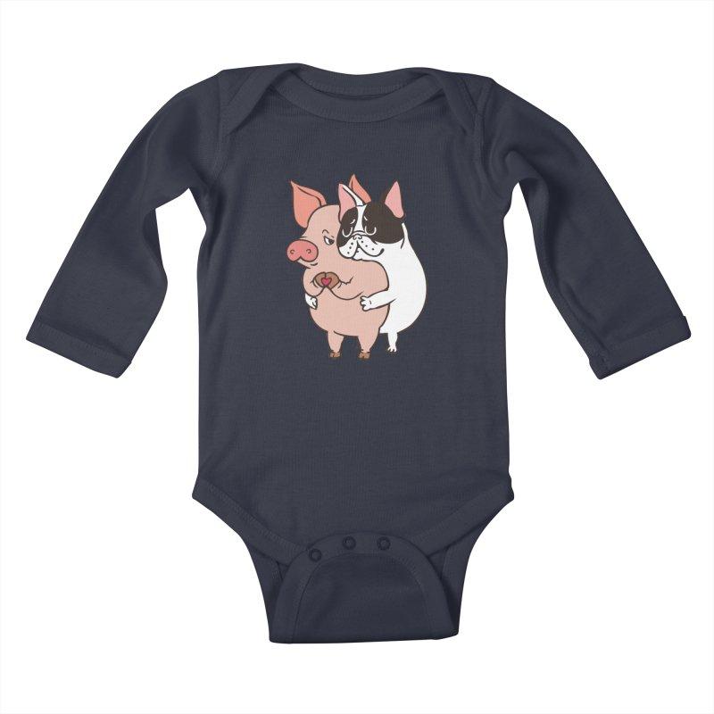 Friend Not Food Kids Baby Longsleeve Bodysuit by huebucket's Artist Shop
