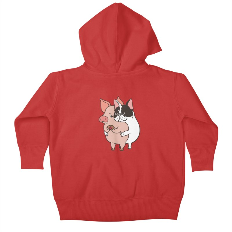 Friend Not Food Kids Baby Zip-Up Hoody by huebucket's Artist Shop
