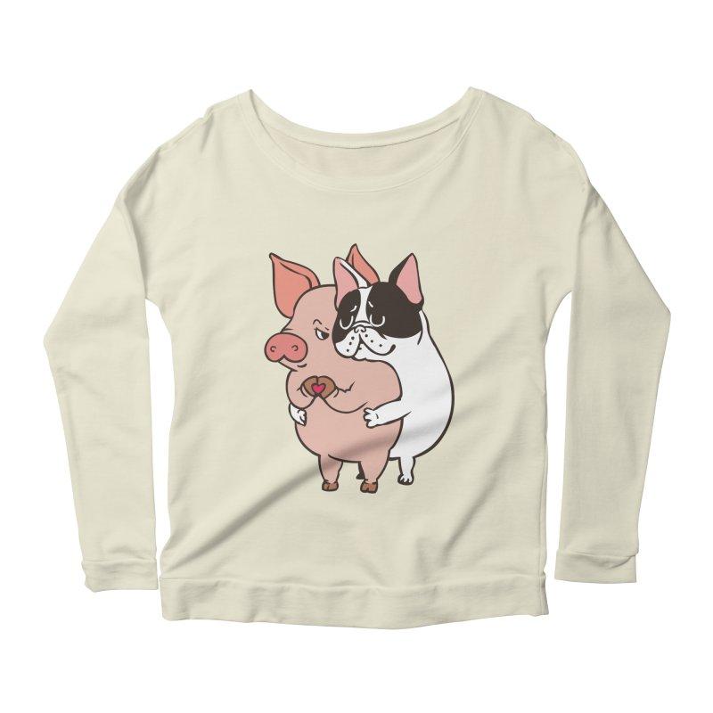 Friend Not Food Women's Scoop Neck Longsleeve T-Shirt by huebucket's Artist Shop