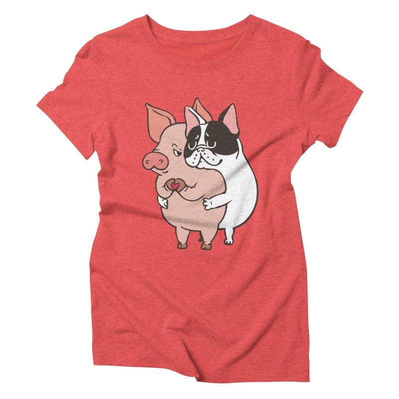 Friend Not Food Women's Triblend T-Shirt by huebucket's Artist Shop