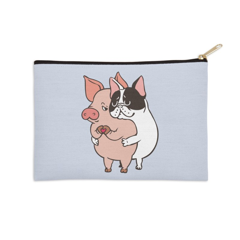 Friend Not Food Accessories Zip Pouch by huebucket's Artist Shop