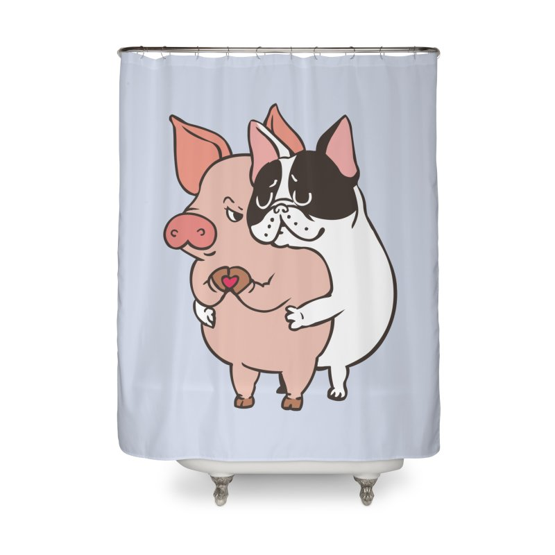 Friend Not Food Home Shower Curtain by huebucket's Artist Shop