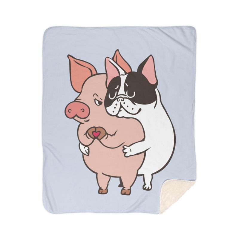 Friend Not Food Home Sherpa Blanket Blanket by huebucket's Artist Shop