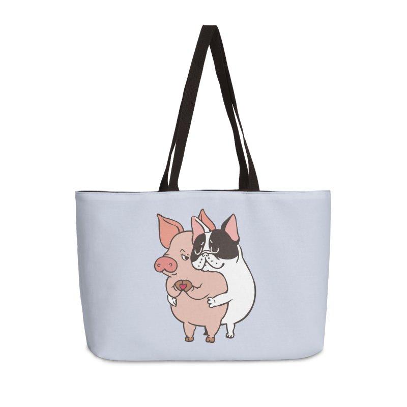 Friend Not Food Accessories Weekender Bag Bag by huebucket's Artist Shop