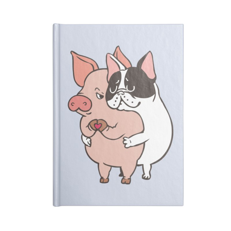 Friend Not Food Accessories Lined Journal Notebook by huebucket's Artist Shop