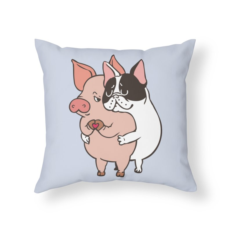 Friend Not Food Home Throw Pillow by huebucket's Artist Shop