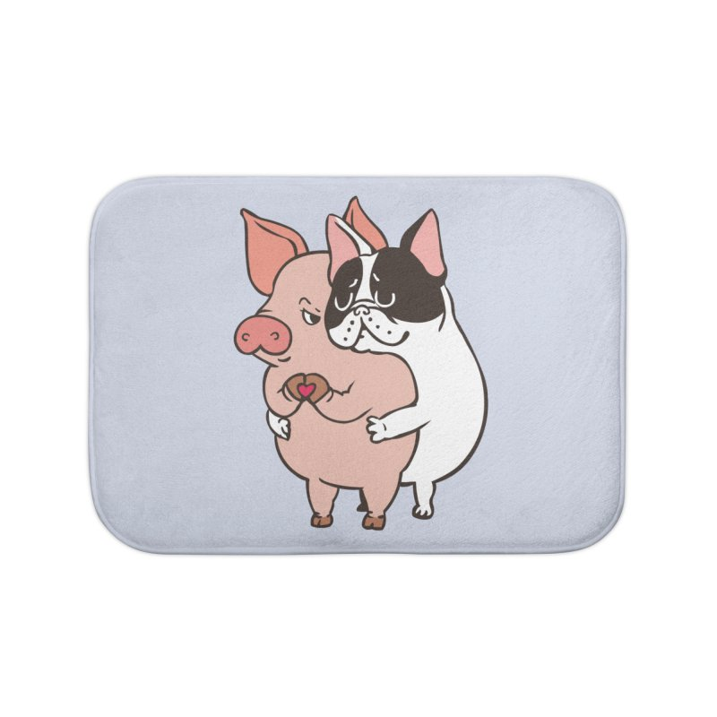 Friend Not Food Home Bath Mat by huebucket's Artist Shop