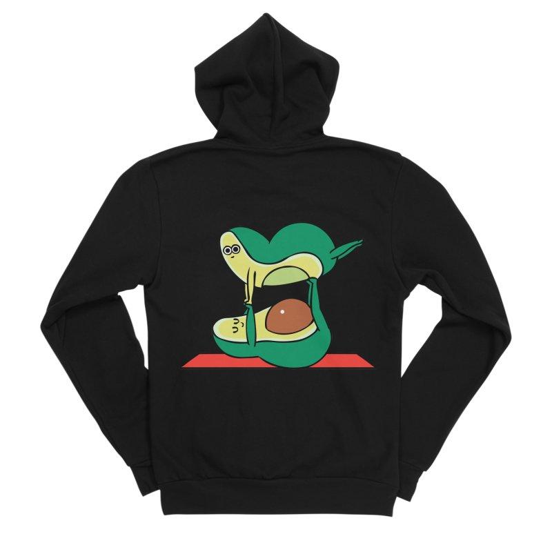 Acroyoga Avocado Men's Sponge Fleece Zip-Up Hoody by huebucket's Artist Shop