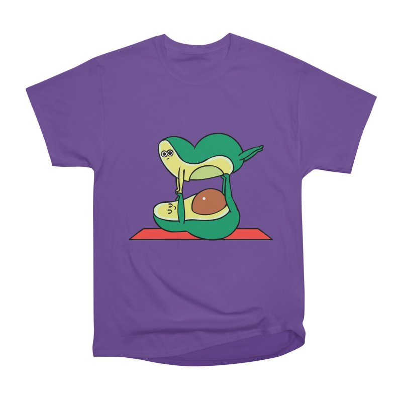 Acroyoga Avocado Men's Heavyweight T-Shirt by huebucket's Artist Shop