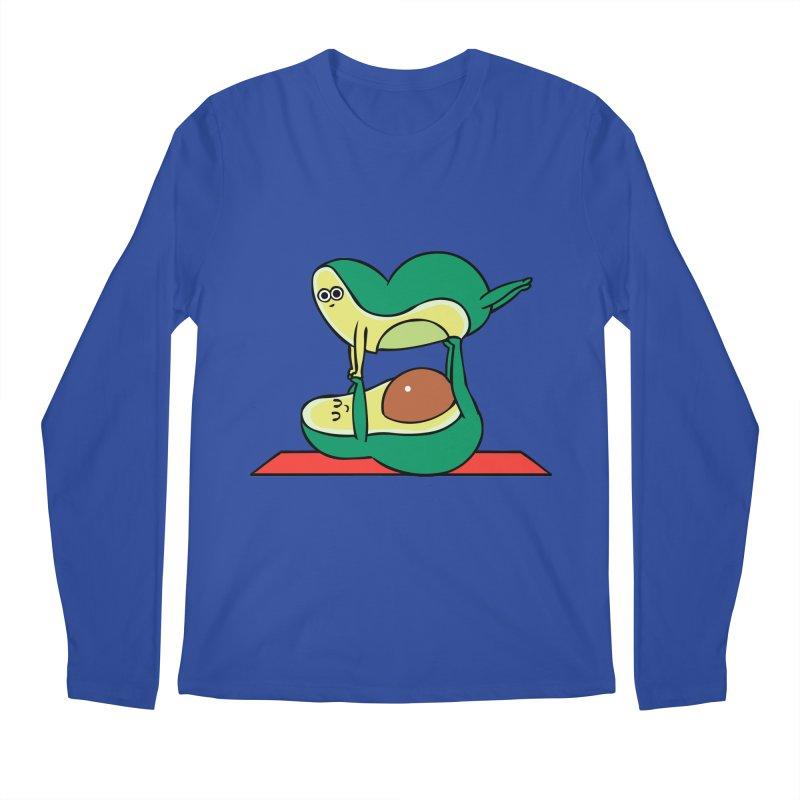 Acroyoga Avocado Men's Regular Longsleeve T-Shirt by huebucket's Artist Shop