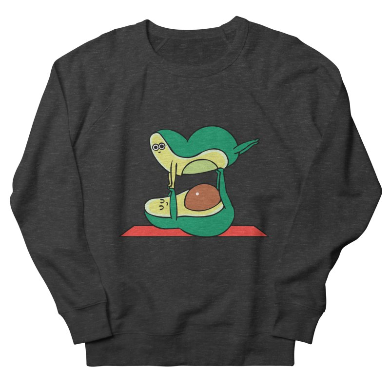 Acroyoga Avocado Men's French Terry Sweatshirt by huebucket's Artist Shop