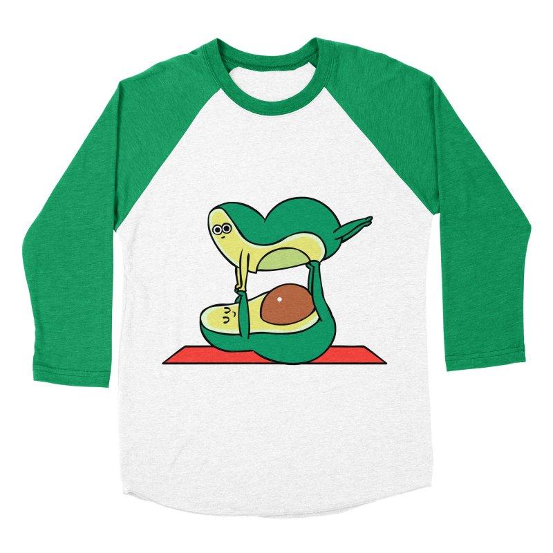 Acroyoga Avocado Men's Baseball Triblend Longsleeve T-Shirt by huebucket's Artist Shop