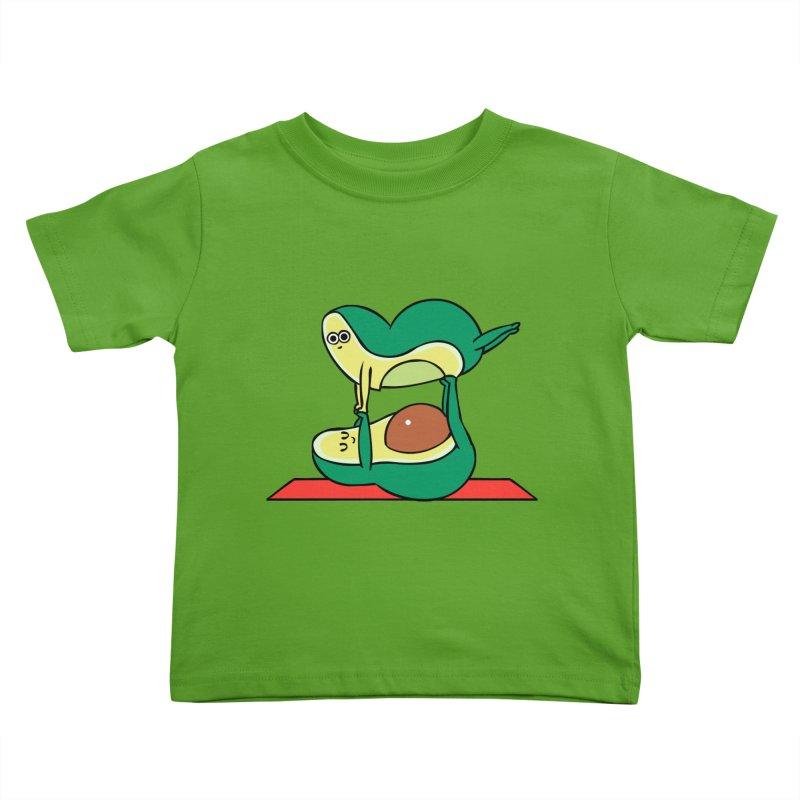 Acroyoga Avocado Kids Toddler T-Shirt by huebucket's Artist Shop