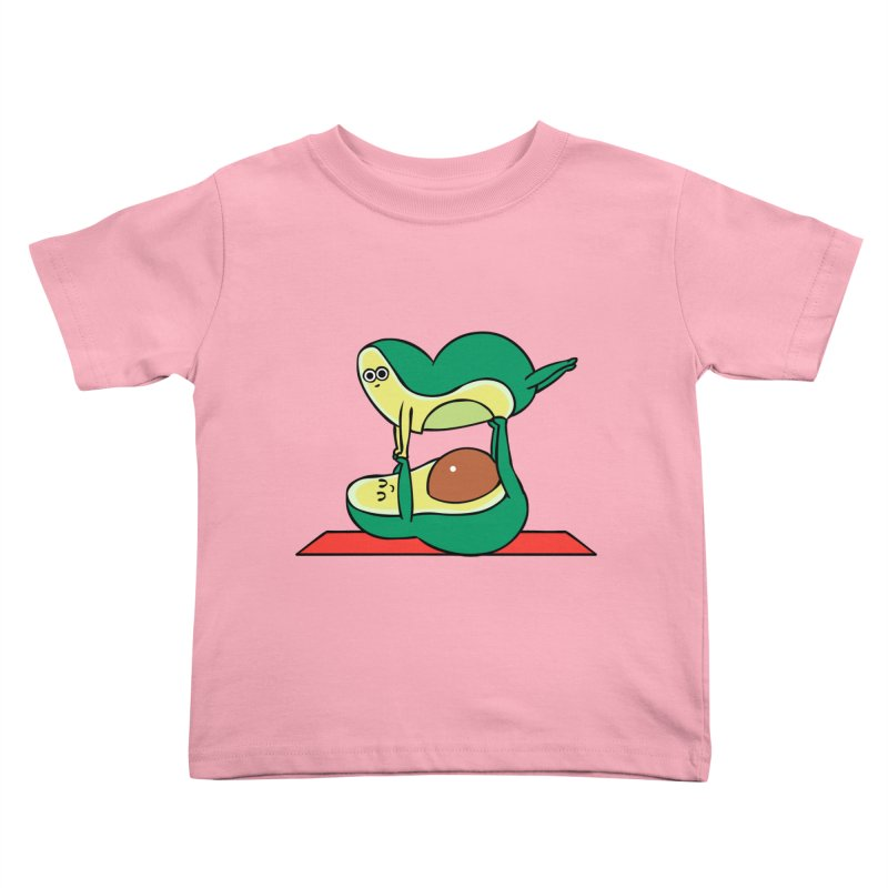 Acroyoga Avocado Kids Toddler T-Shirt by huebucket's Artist Shop