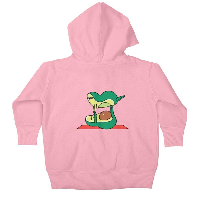Acroyoga Avocado Kids Baby Zip-Up Hoody by huebucket's Artist Shop