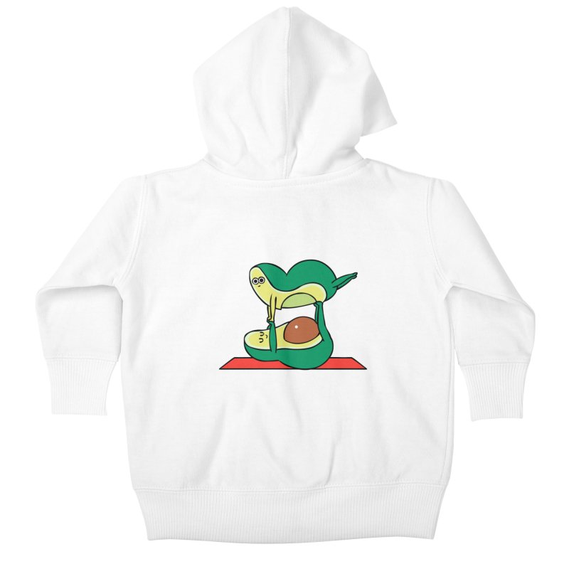 Acroyoga Avocado Kids Baby Zip-Up Hoody by huebucket's Artist Shop