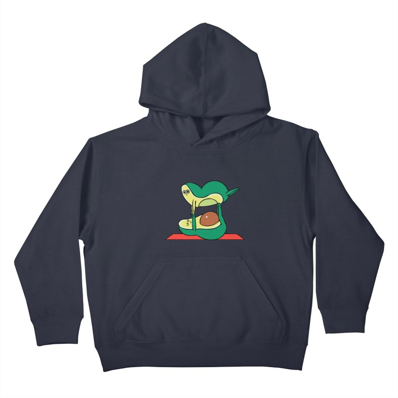 Acroyoga Avocado Kids Pullover Hoody by huebucket's Artist Shop