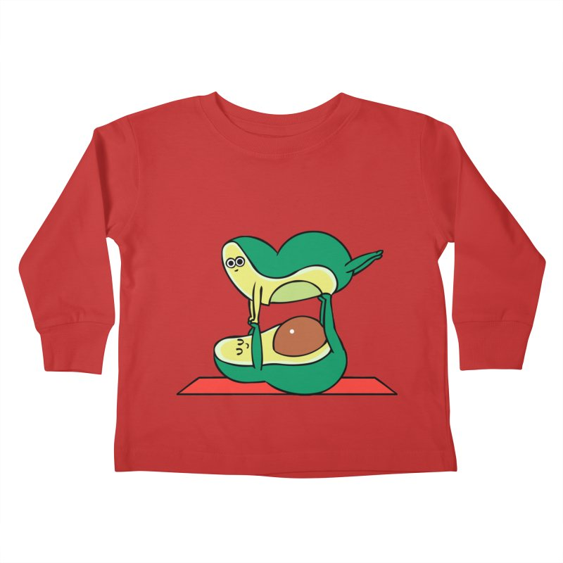 Acroyoga Avocado Kids Toddler Longsleeve T-Shirt by huebucket's Artist Shop