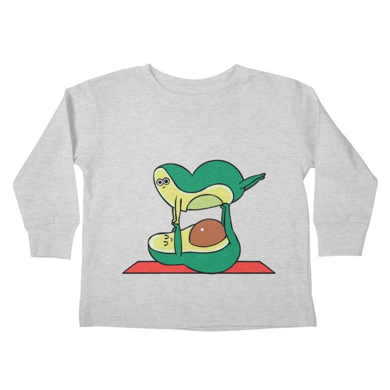 Acroyoga Avocado Kids Toddler Longsleeve T-Shirt by huebucket's Artist Shop