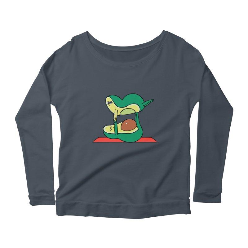 Acroyoga Avocado Women's Scoop Neck Longsleeve T-Shirt by huebucket's Artist Shop