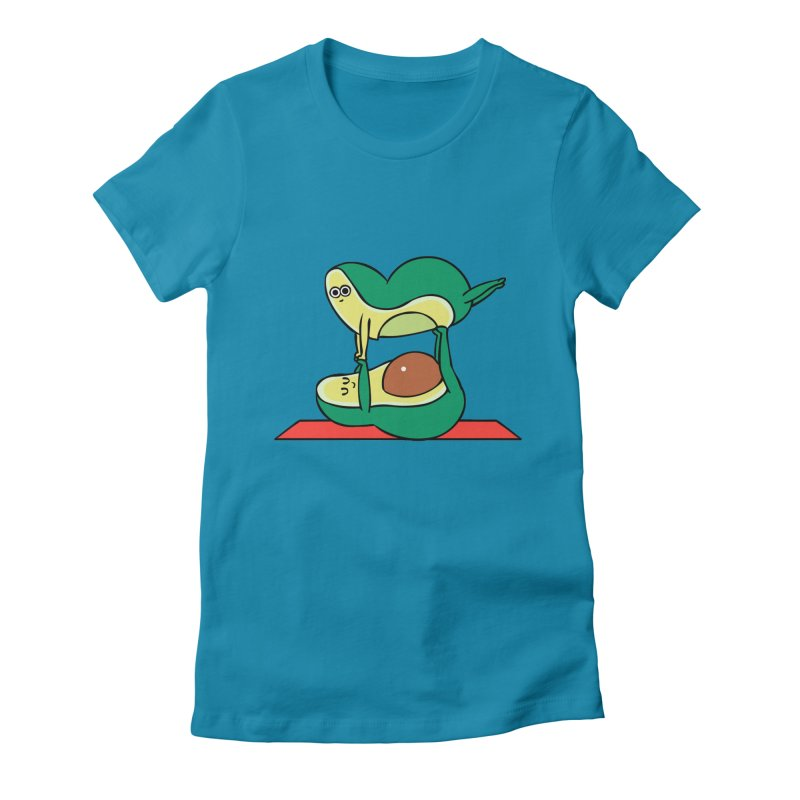 Acroyoga Avocado Women's Fitted T-Shirt by huebucket's Artist Shop