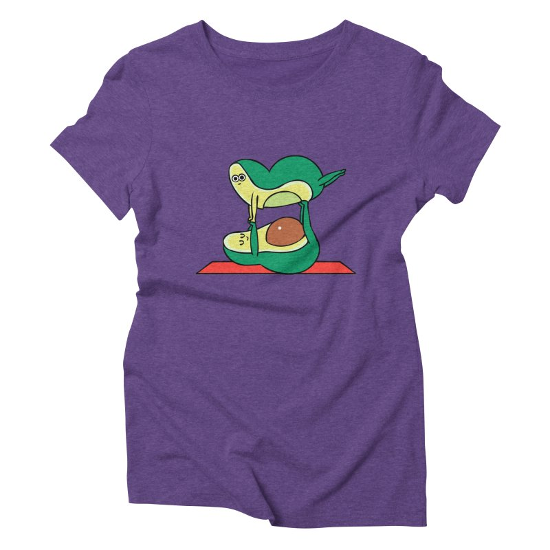 Acroyoga Avocado Women's Triblend T-Shirt by huebucket's Artist Shop