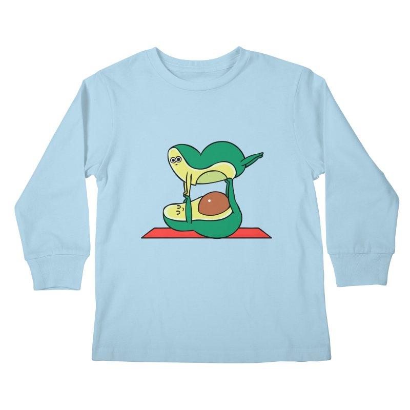 Acroyoga Avocado Kids Longsleeve T-Shirt by huebucket's Artist Shop
