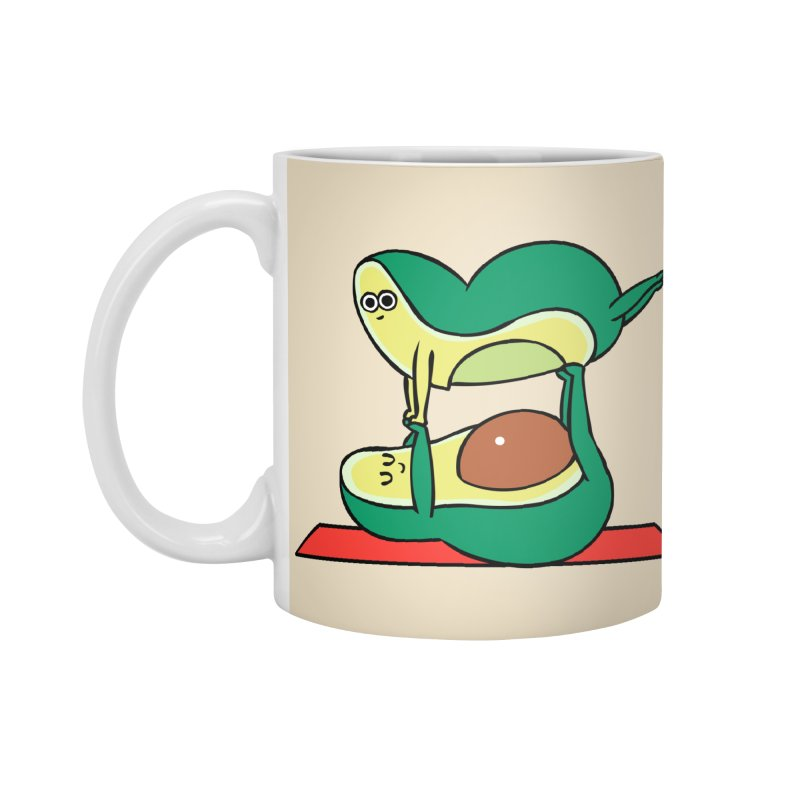 Acroyoga Avocado Accessories Mug by huebucket's Artist Shop