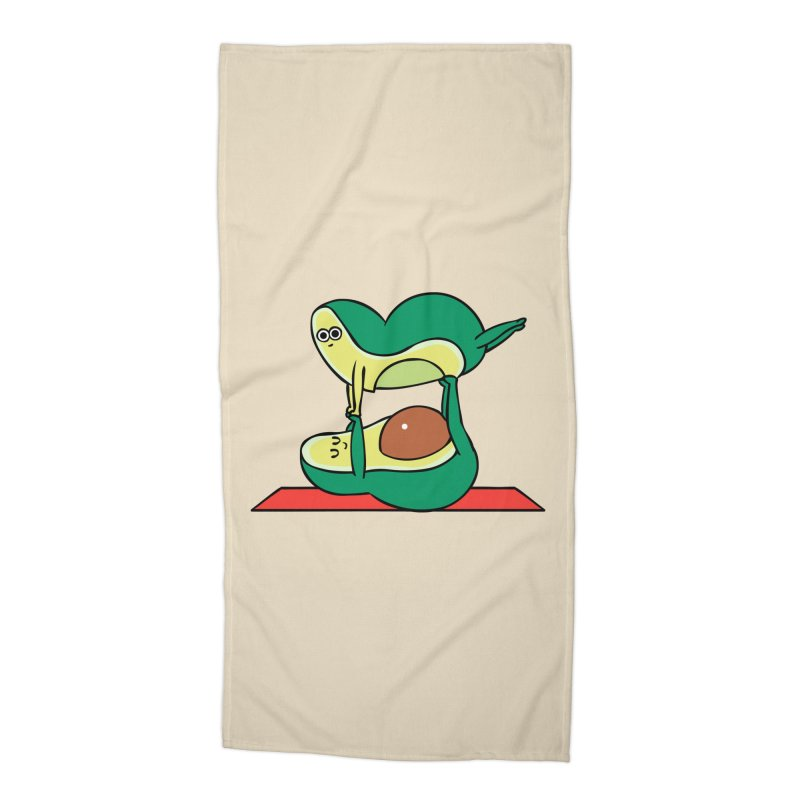 Acroyoga Avocado Accessories Beach Towel by huebucket's Artist Shop