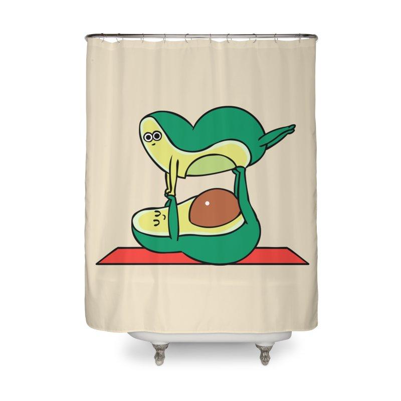 Acroyoga Avocado Home Shower Curtain by huebucket's Artist Shop