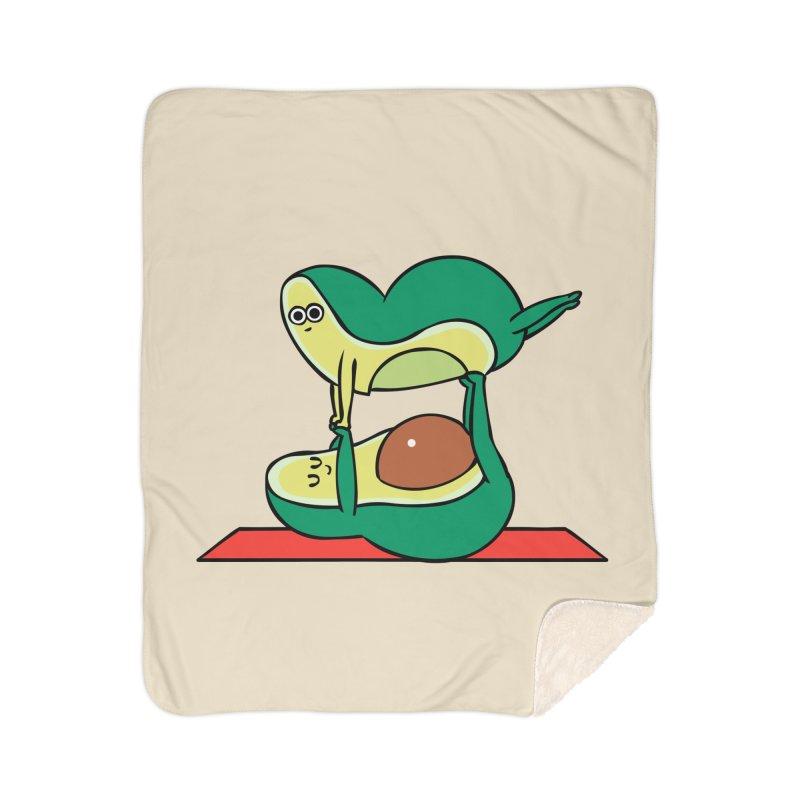 Acroyoga Avocado Home Sherpa Blanket Blanket by huebucket's Artist Shop