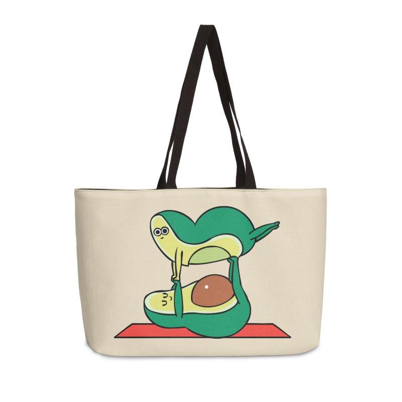 Acroyoga Avocado Accessories Weekender Bag Bag by huebucket's Artist Shop