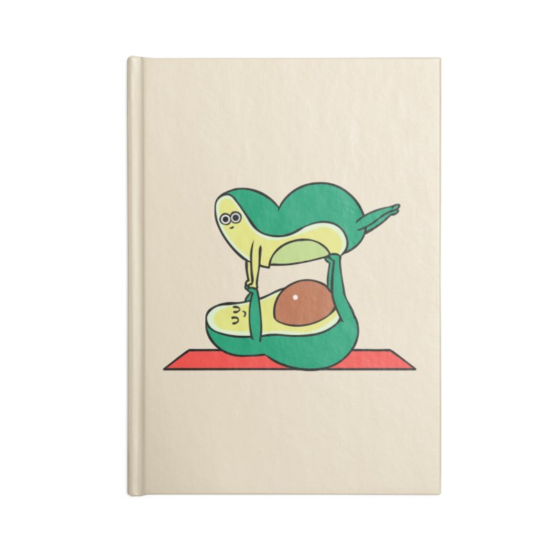 Acroyoga Avocado Accessories Lined Journal Notebook by huebucket's Artist Shop